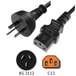 Picture of AS3112 to C13 Power Cord - 2.5 Meter Rated 10A, 250V, H05VV-F